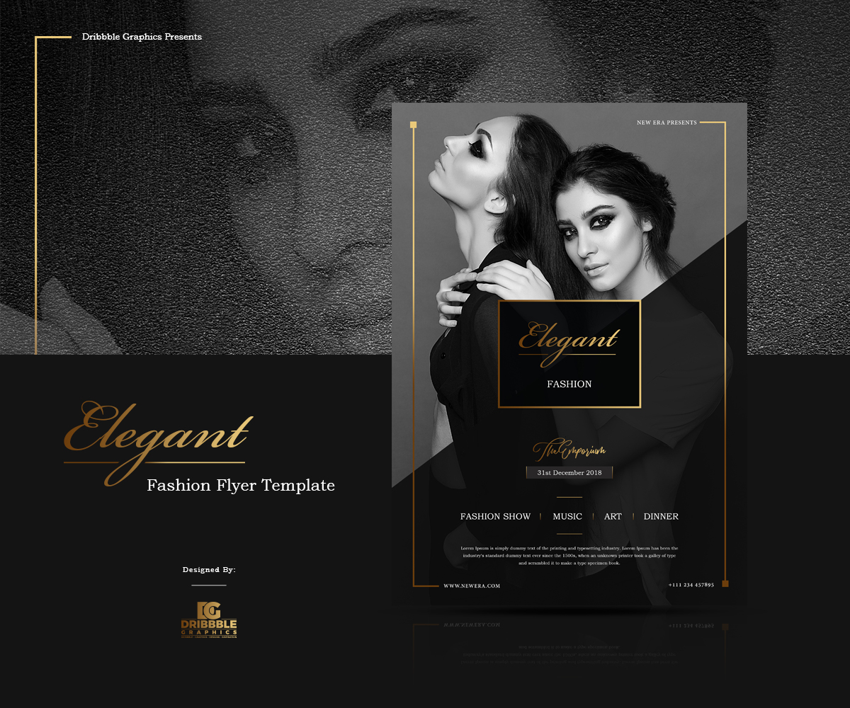free elegant fashion flyer template