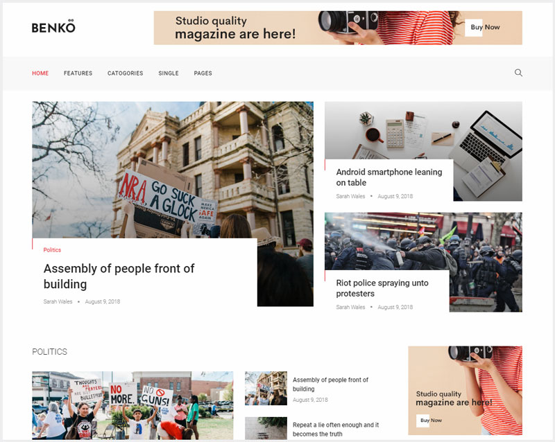Benko-Creative-Magazine-WordPress-Theme