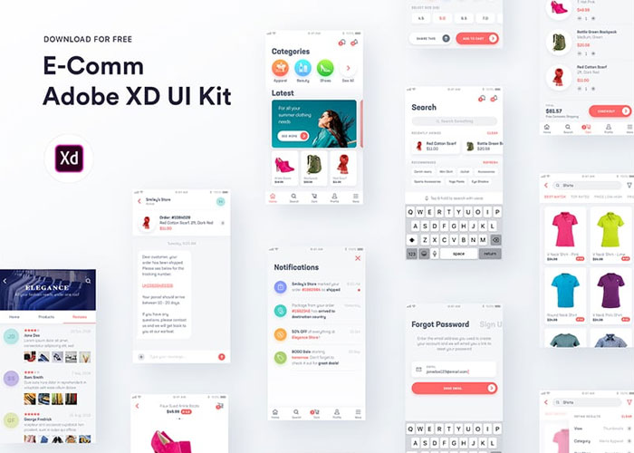 E-Comm-Adobe-XD-UI-Kit