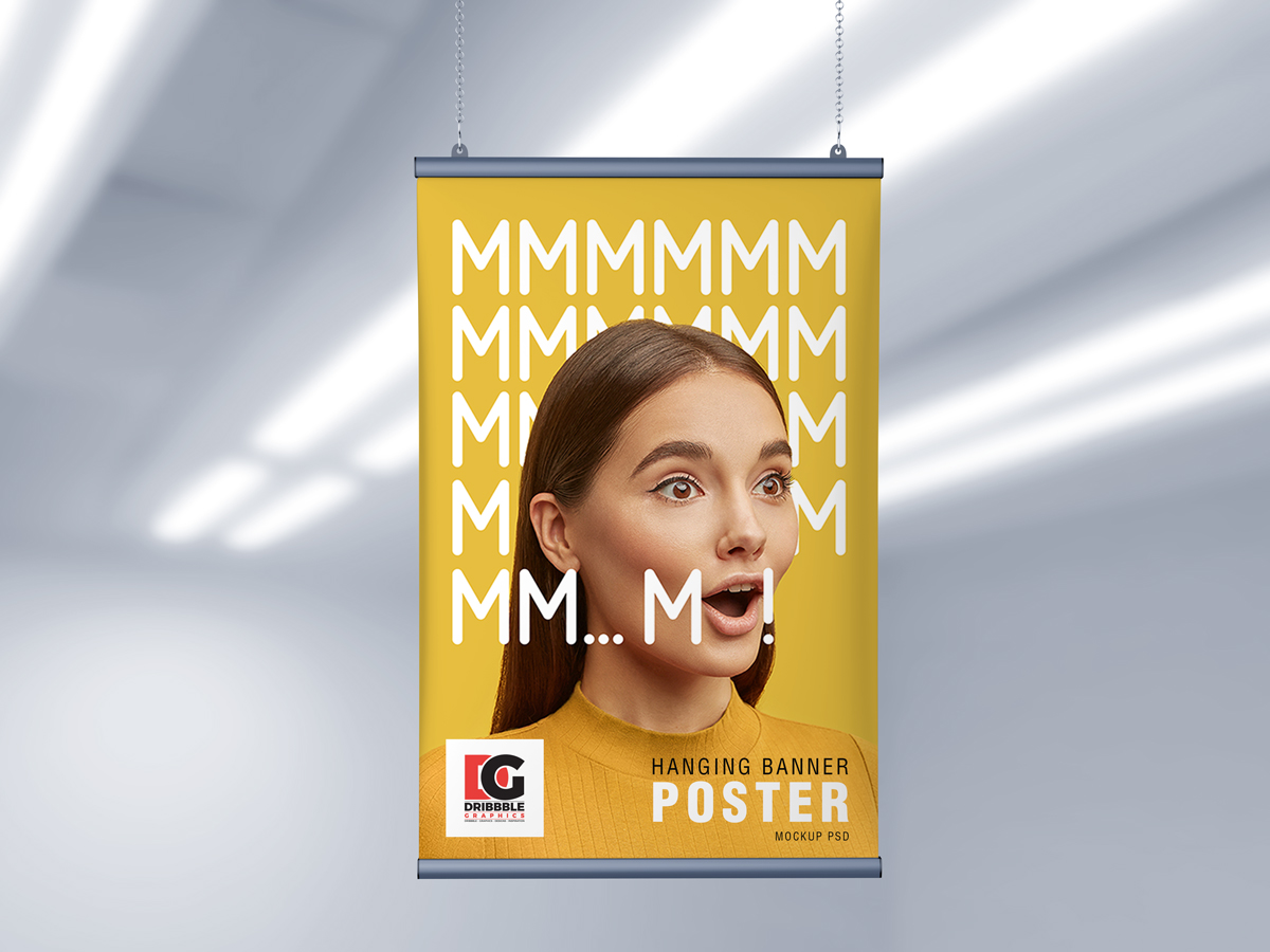 Free-Ceiling-Hanging-Banner-Poster-Mockup-PSD-2019