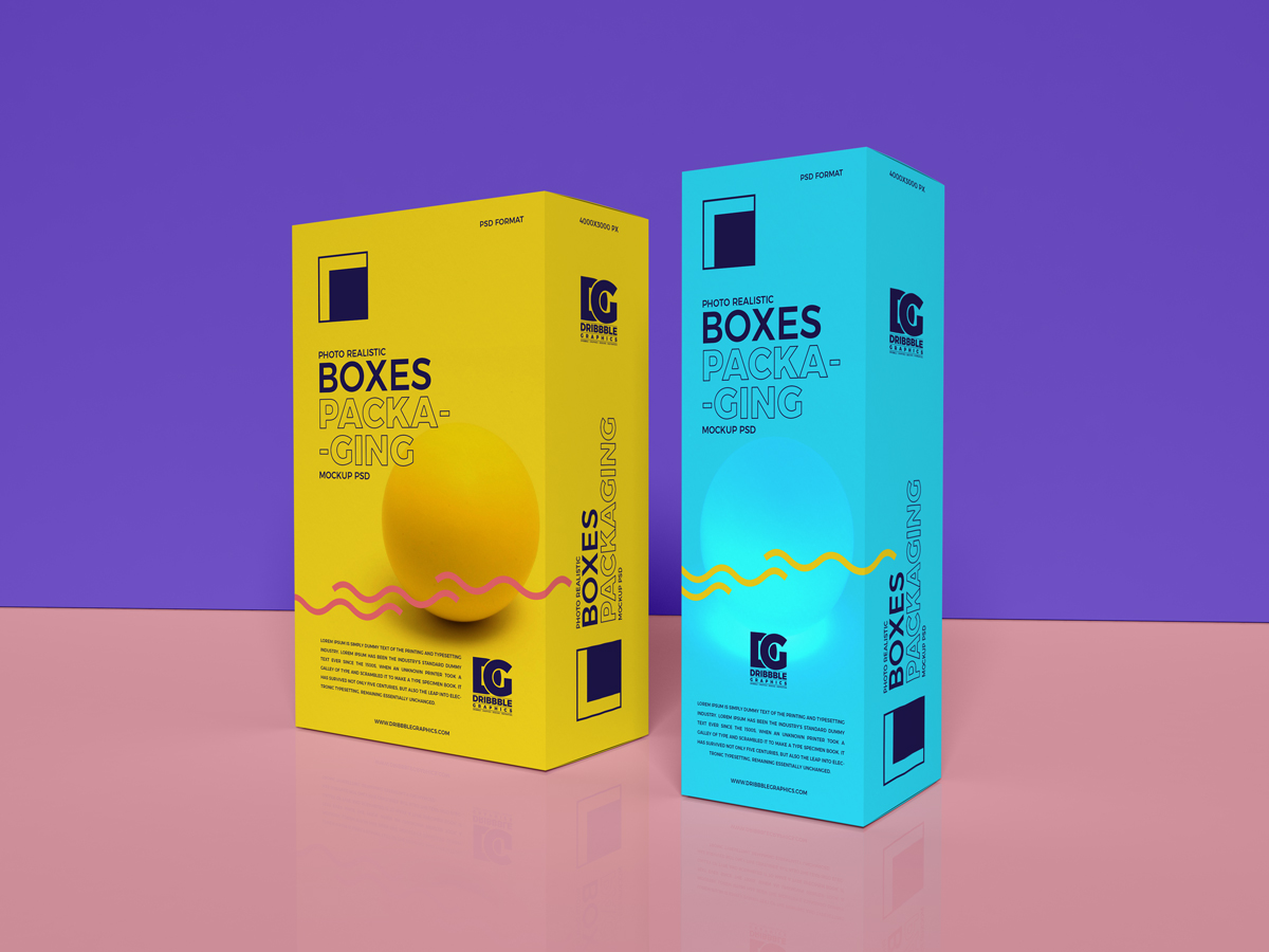 Free Photo Realistic Boxes Packaging Mockup Psd 2019 Dribbble