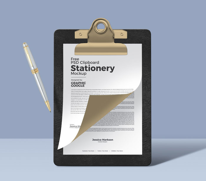 Free-Psd-Clipboard-Stationery-Mockup