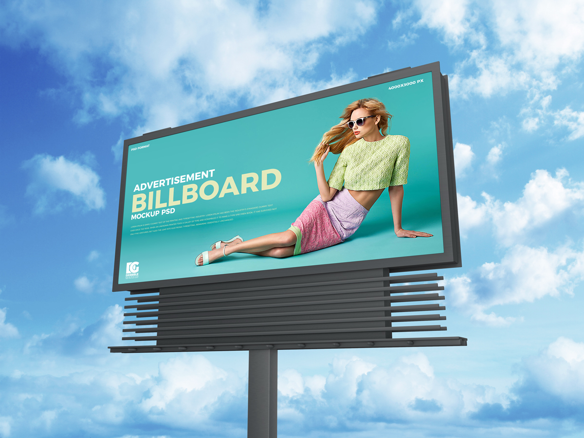 Free-Sky-Advertisement-Billboard-Mockup-PSD-2019