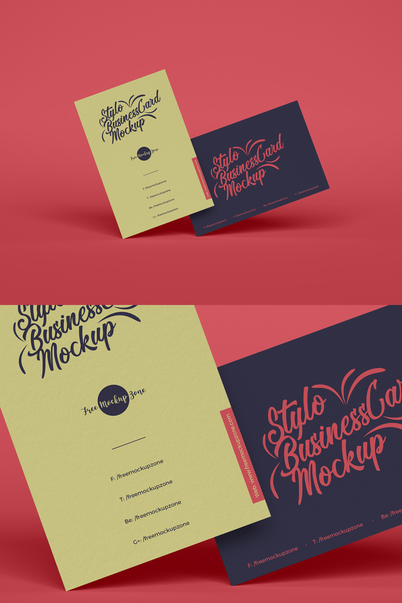 Free-Stylish-Brand-Business-Card-Mockup-Design