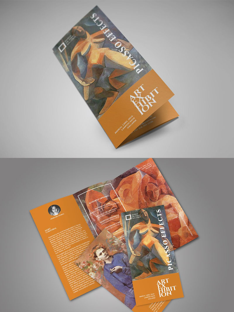 Art-Exhibition-Trifold-Brochure