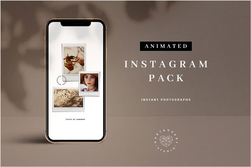 Animated-Neutral--Instagram-Pack