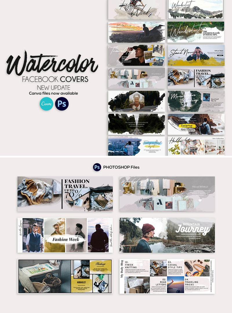Watercolor-Facebook-Cover-Templates