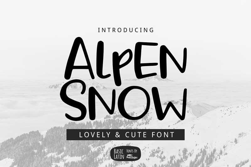 ice and snow font