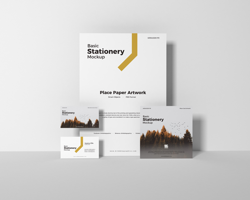 Free-Basic-Stationery-Mockup-Design