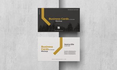Free-Business-Cards-on-Concrete-Mockup-300