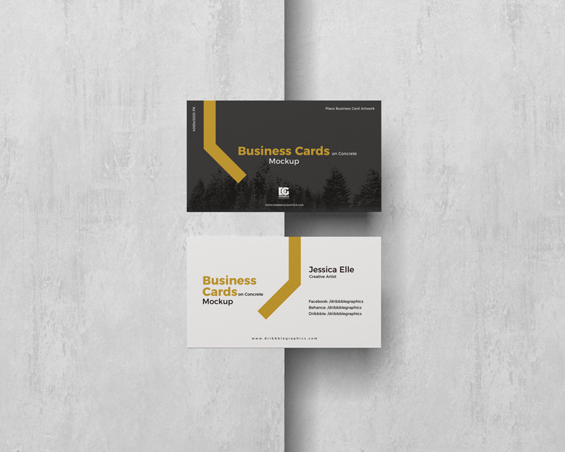 Free-Business-Cards-on-Concrete-Mockup