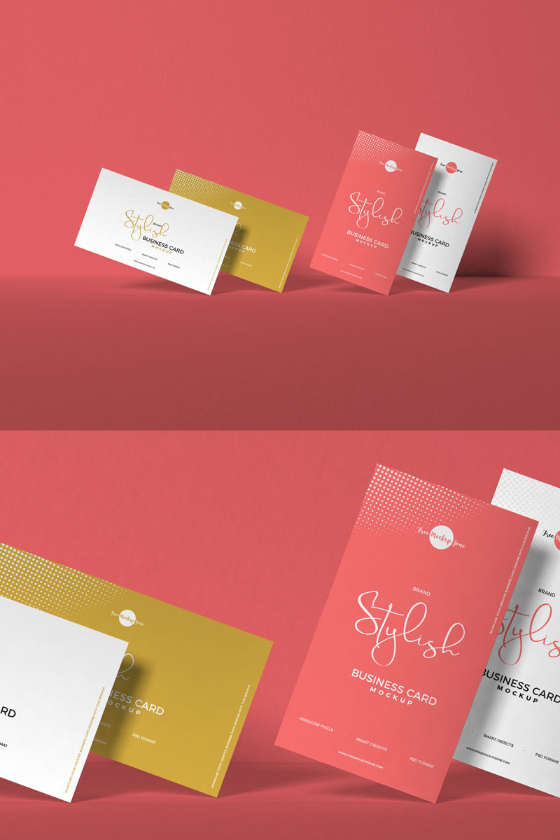 Free-PSD-Stylish-Business-Card-Mockup