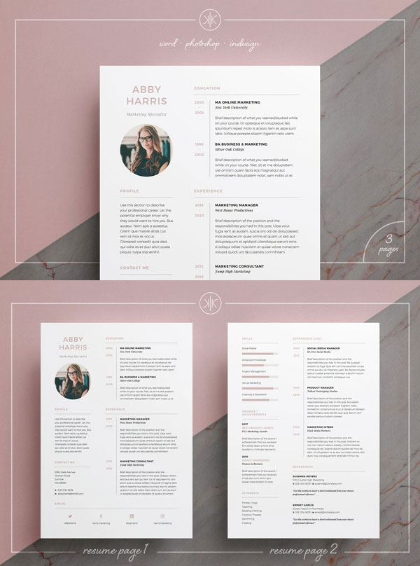 Abby-CV-Resume-Template-For-Marketing-Specialist