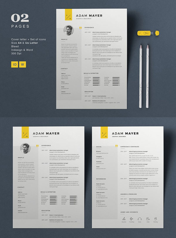 Adam-Resume-Template-For-Graphic-Designers