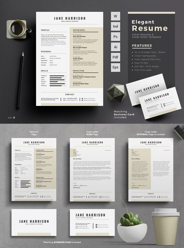 CV-Resume-Template-For-Web-And-Graphic-Designer