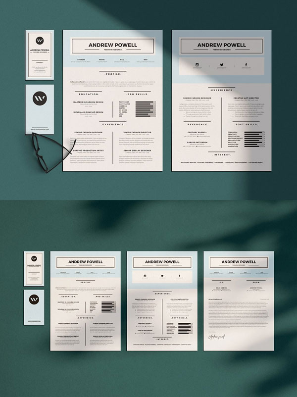 Clean-Resume-with-Business-Card