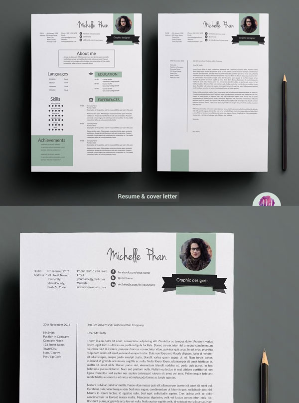 Creative-Resume-Template-For-Graphic-Designer-With-Cover-Letter