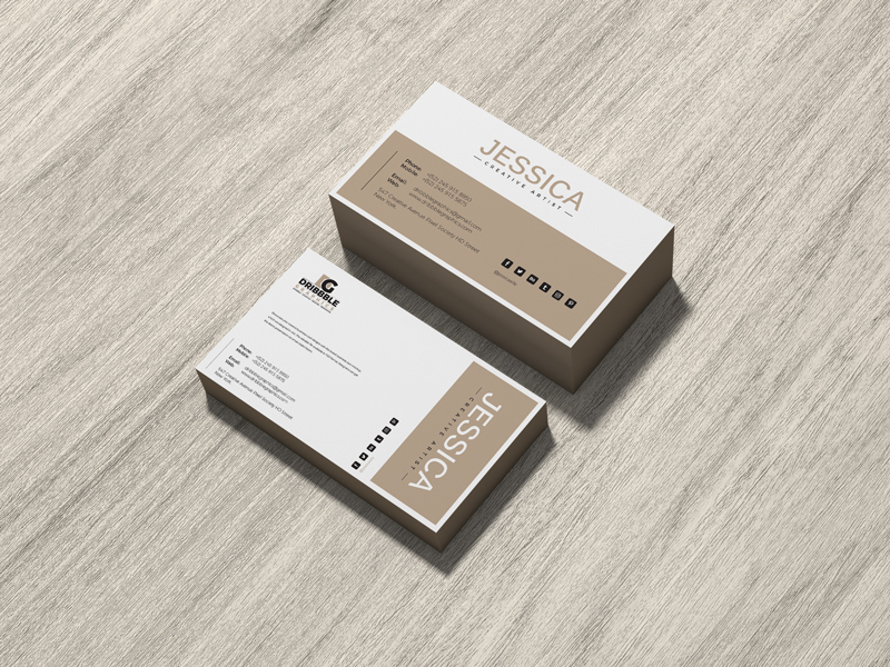 Free-Brand-Business-Card-Mockup-on-Wood-600
