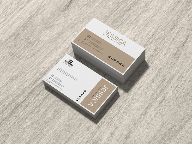 Free-Brand-Business-Card-Mockup-on-Wood