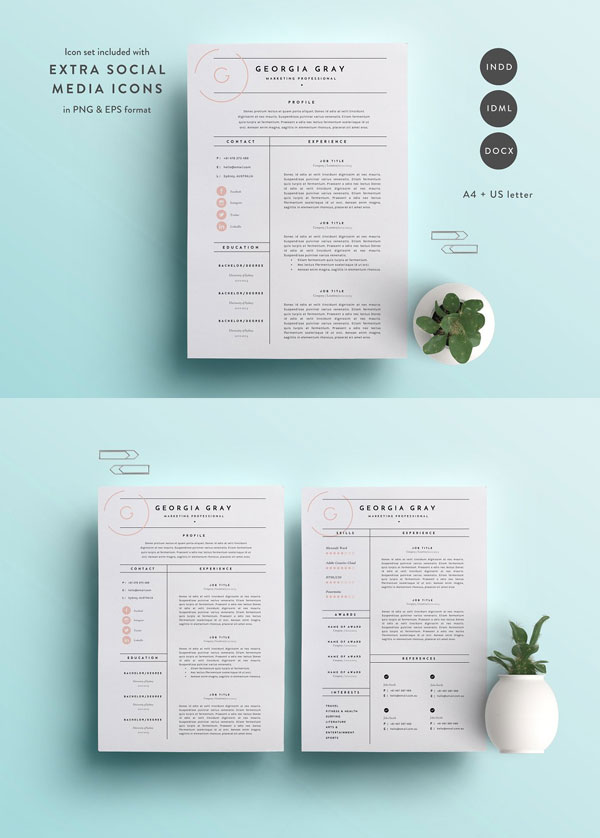 Marketing-Resume-Template
