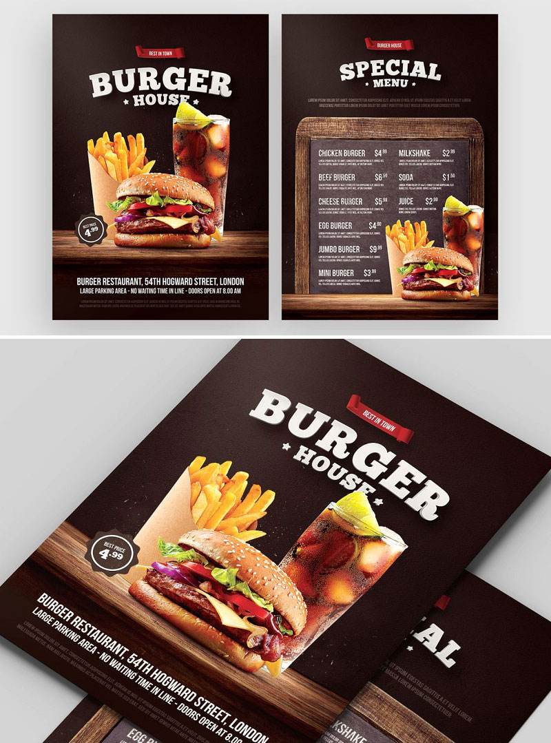 Burger-Flyer-Menu-Design-Template