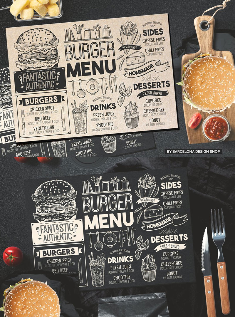 Creative-Burger-Menu-Template