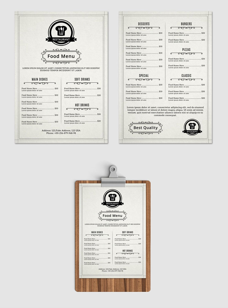 Elegant-Food-Restaurant-Menu-Flyer