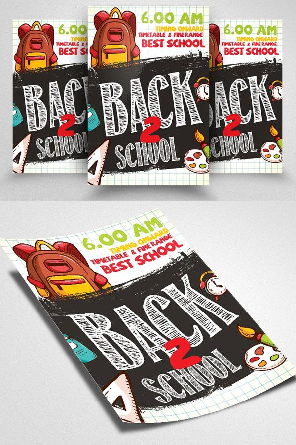 Flyer-Template-For-Back-To-School