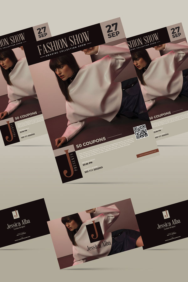 Free-Fashion-Brand-Flyer-&-Business-Card-Templates