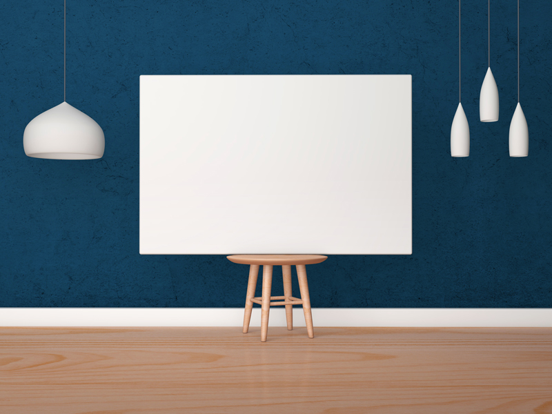 Free-Horizontal-Poster-Canvas-Mockup-on-Wooden-Chair-600