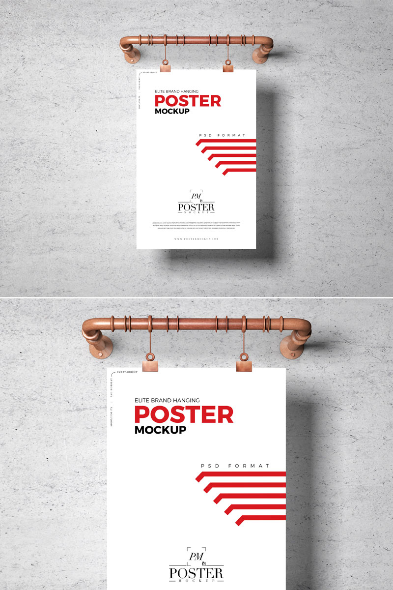 Free-PSD-Hanging-Poster-Mockup-Template