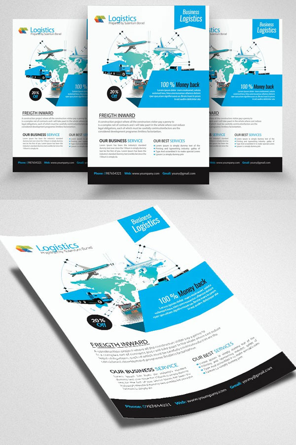 Modern-Flyer-Template-For-Freight-&-Logistic-Business