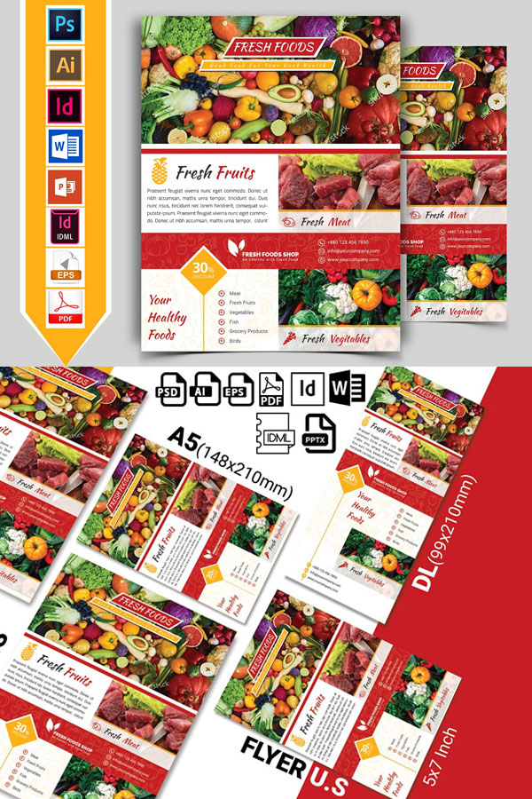 Modern-Flyer-Template-For-Fresh-Food-Grocery
