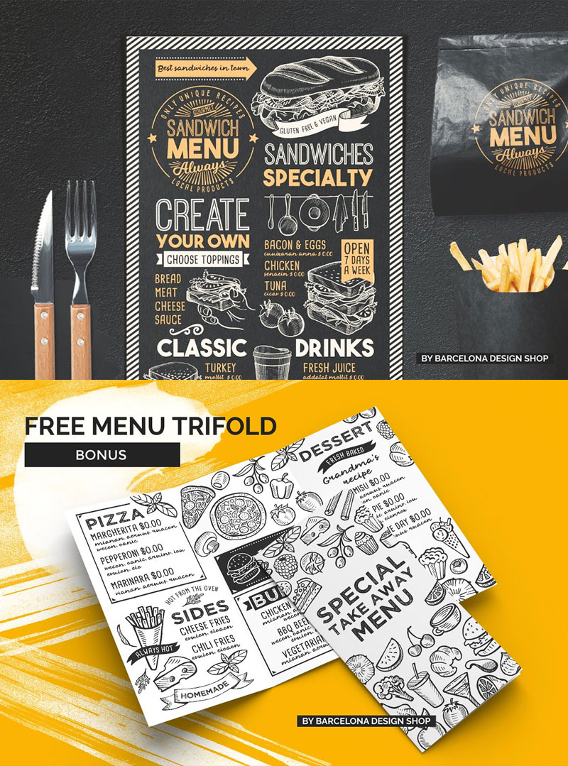 Sandwich-Food-Menu-Template