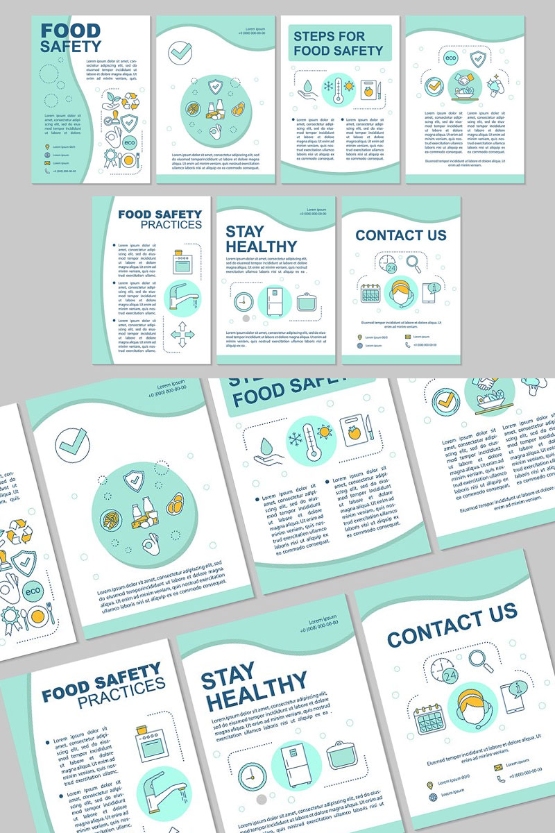Brochure-Template-For-Food-Safety-Hygiene