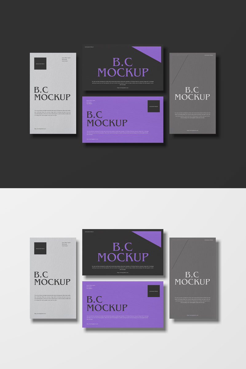 Free-Brand-Multiple-Business-Cards-Mockup-PSD