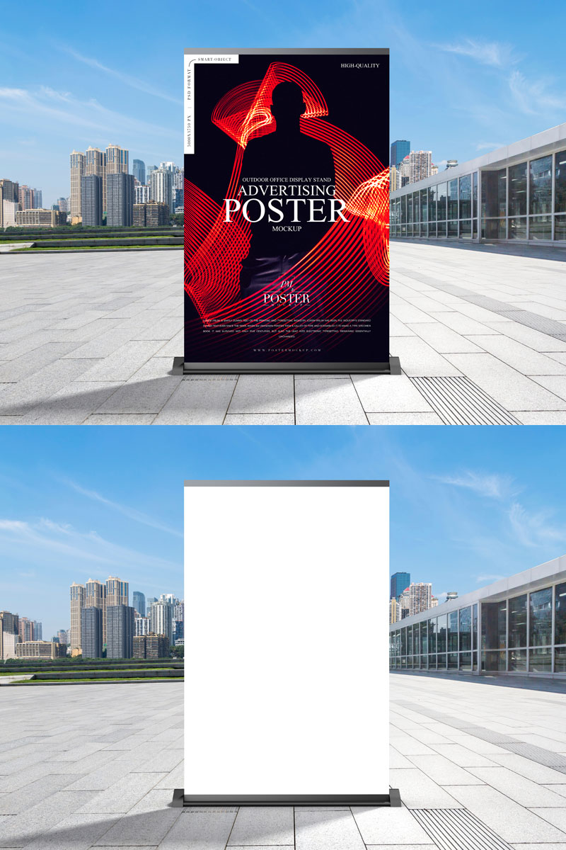 Free-Outdoor-Business-Advertisement-Poster-Mockup