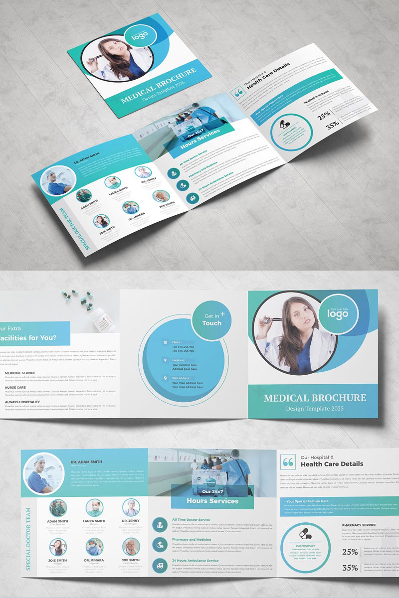Square-Brochure-Design-Template-For-Medical