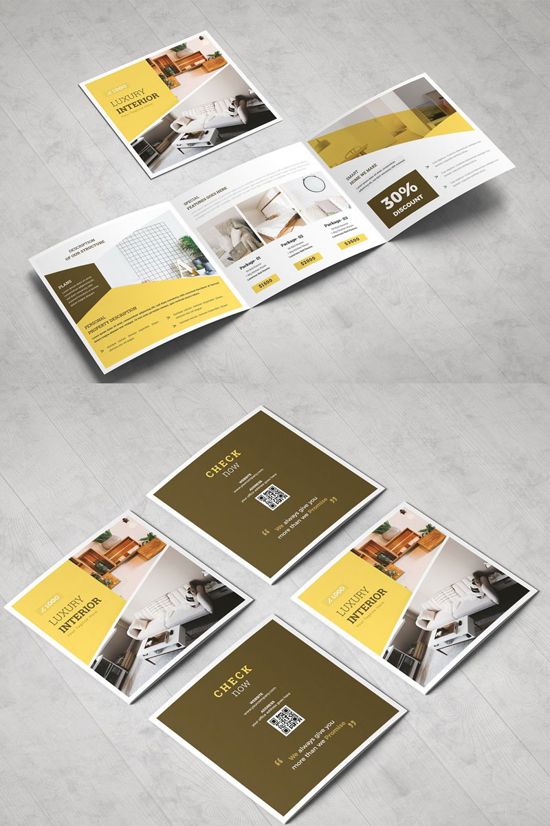 Square-Trifold-Brochure-For-Real-Estate-Company