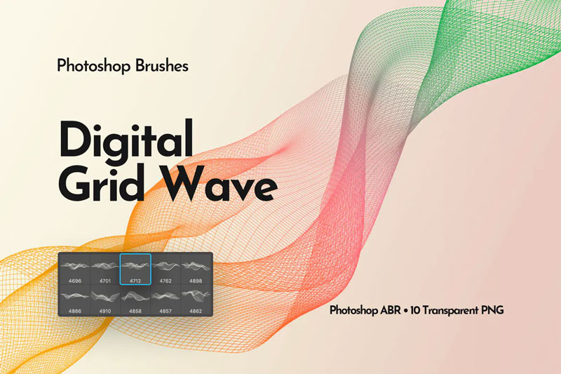 Digital-Grid-Waves-Photoshop-Brushes-1