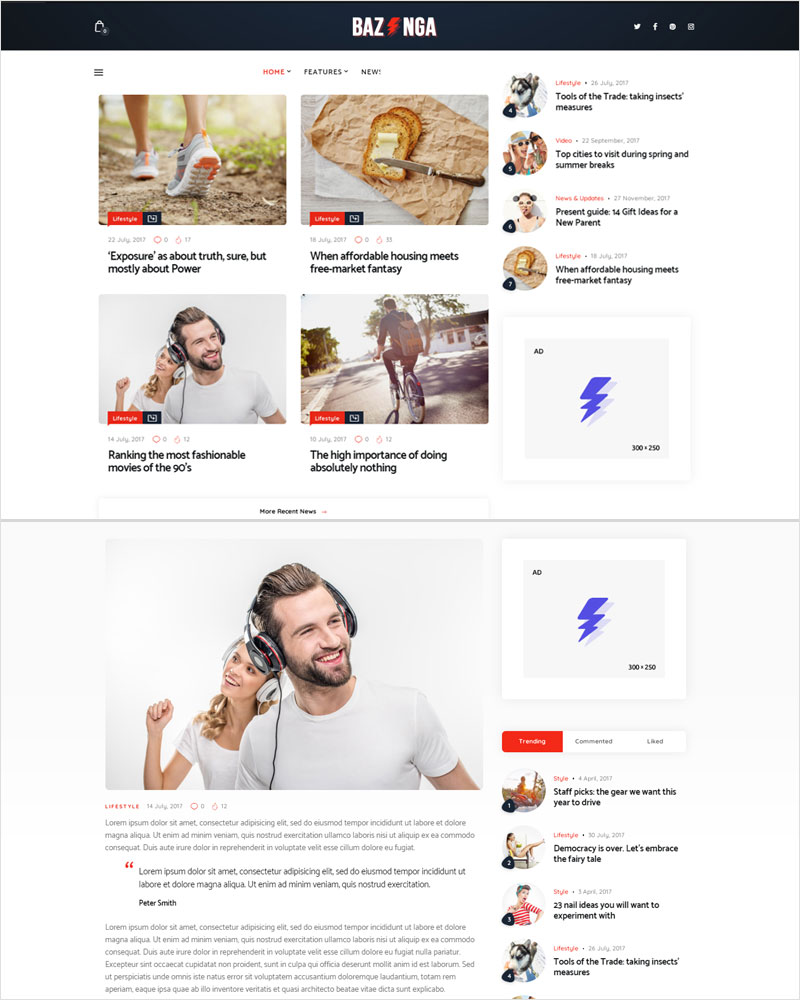 Bazinga-Modern-Magazine-Blog-WordPress-Theme-2020