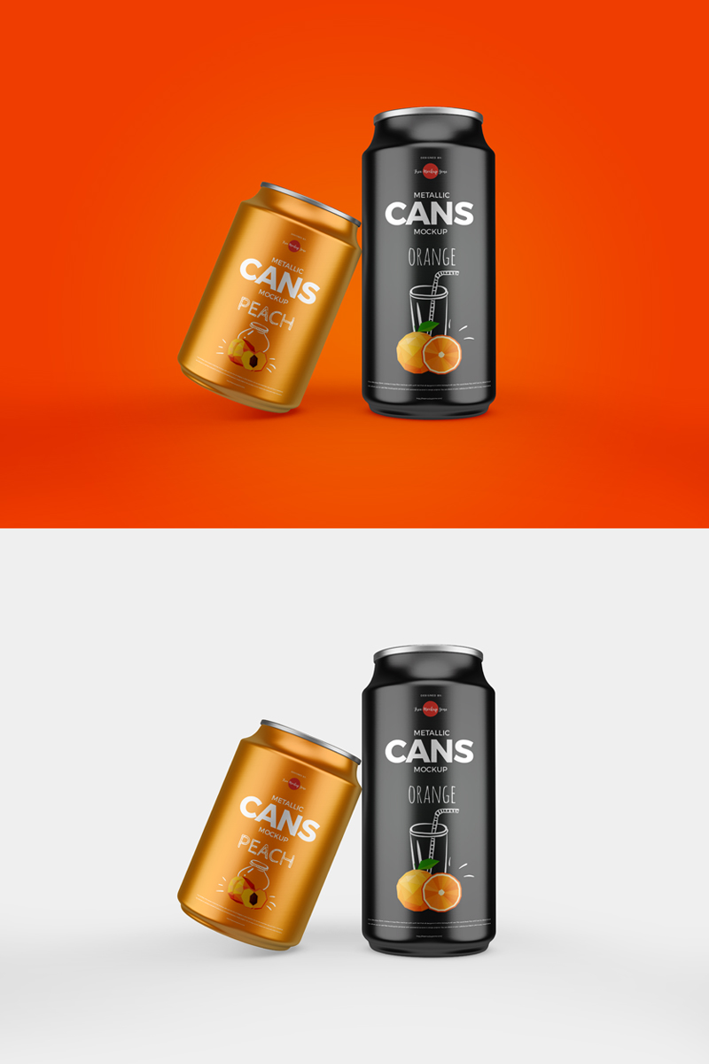 Free-Packaging-Drinks-Cans-Mockup