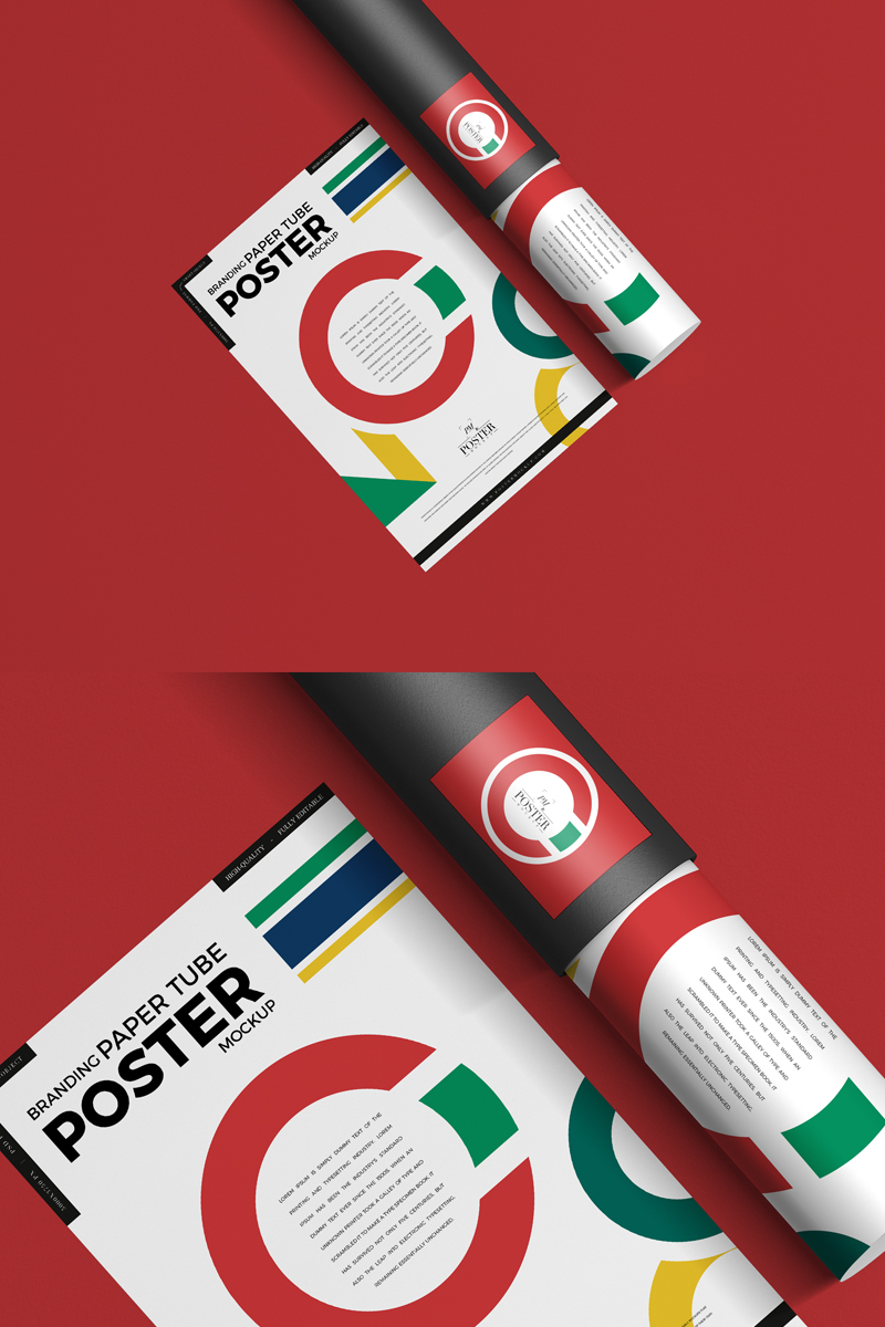 Free-Paper-Tube-With-Poster-Mockup-For-Branding