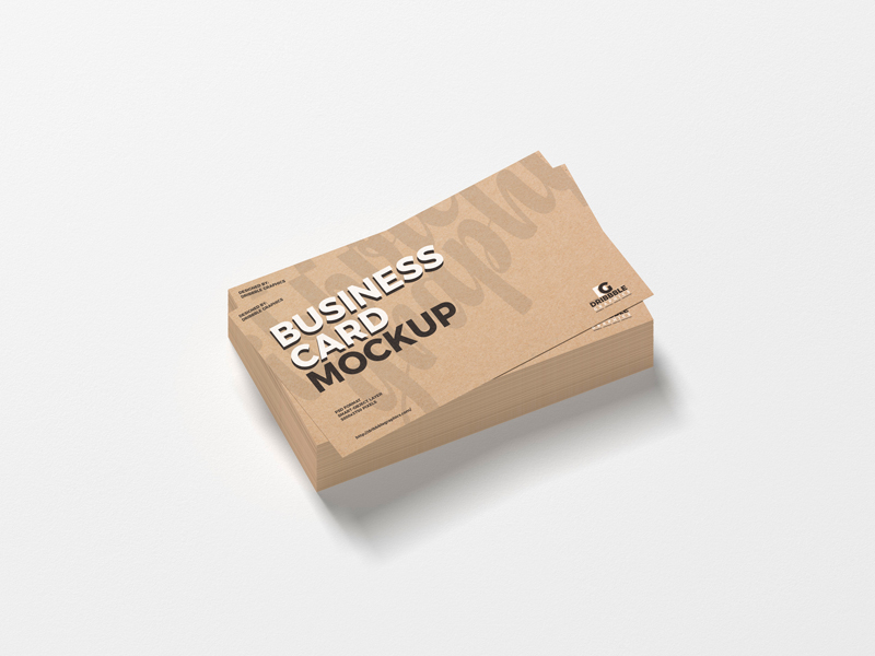 Free-Stack-of-Kraft-Business-Cards-Mockup-PSD