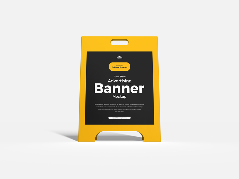 Free-Street-Stand-Advertising-Banner-Mockup