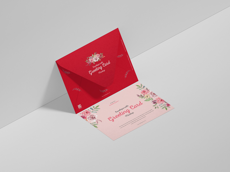Free-Envelope-With-Greeting-Card-Mockup-600