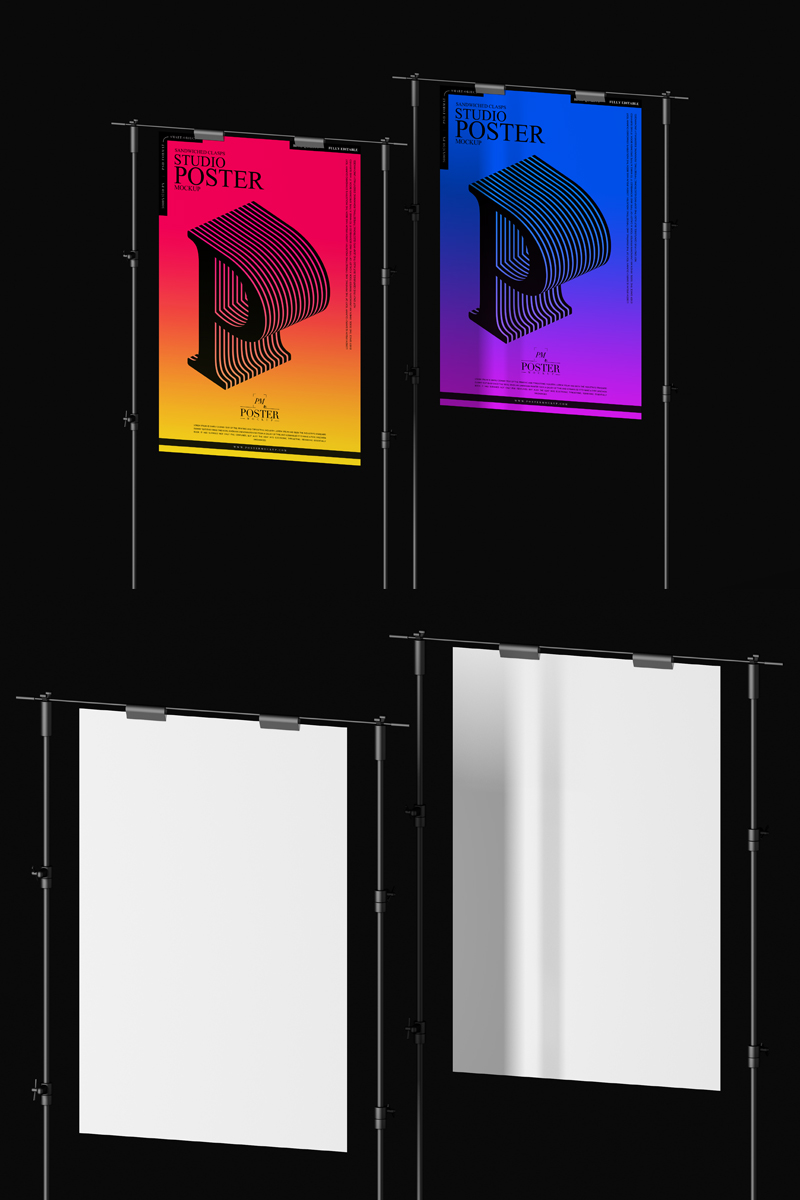 Free-Modern-Sandwiched-Clasps-Posters-Mockup