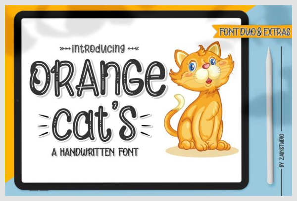 Orange-Cat's-Font-8