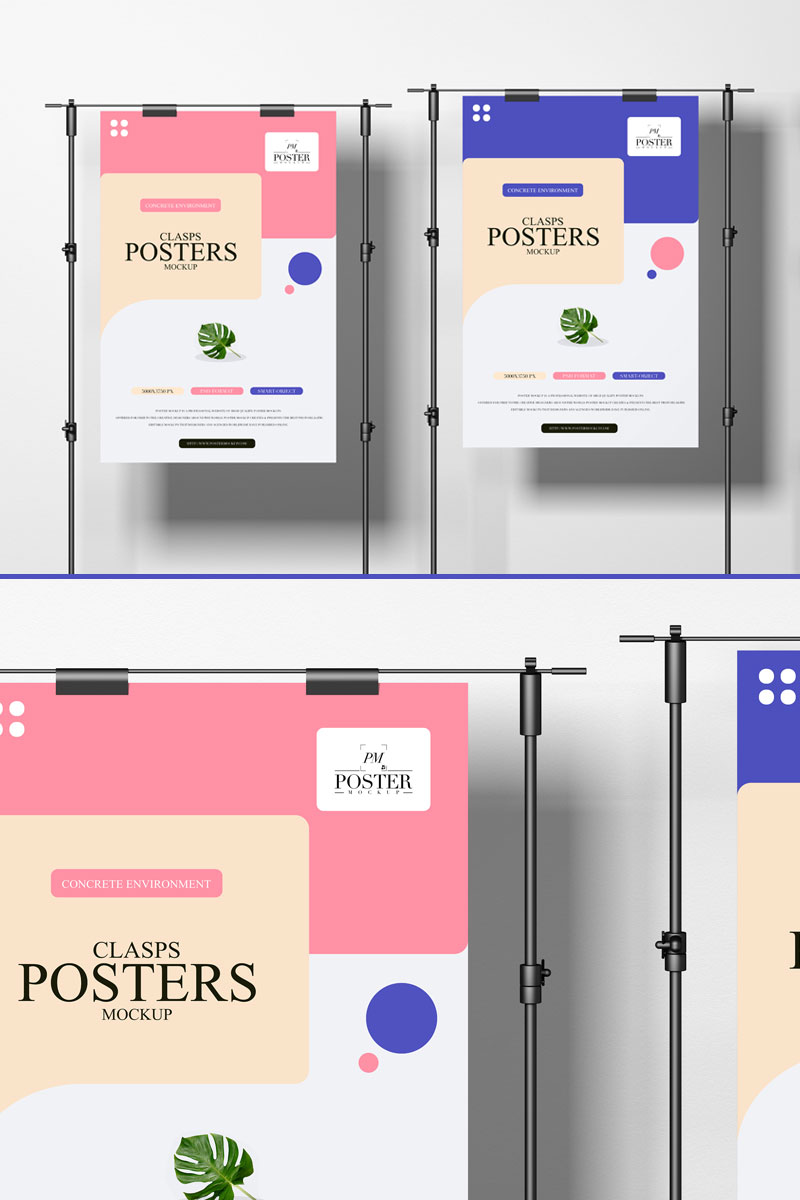 Free-Modern-Clasps-Posters-Mockup
