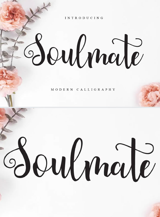 Soulmate-Modern-Calligraphy-Script